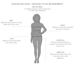 Waist Measurement Chart Size Guide