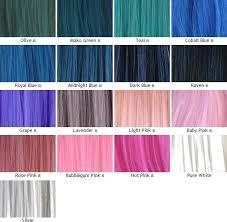 Unnatural Hair Color Chart Hot Pink Hair Color Extraordinary Pccheatz