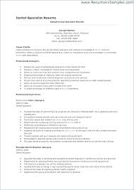 A Sample Of A Good Resume Best Of Cover Letter For Dental Assistant Traineeship No Experience Sample