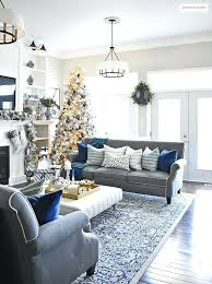 blue and silver living room designs