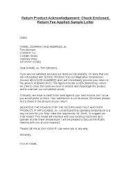 Returned Check Letter Template Cover Letter Samples Cover Letter