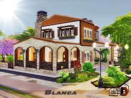 Danuta720's Blanca. | Sims house, The sims 4 lots, Sims 4 houses