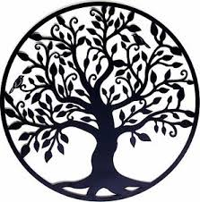 image is loading black tree of life metal hanging wall art  on tree of life outdoor metal wall art with black tree of life metal hanging wall art 99 cm round sculpture