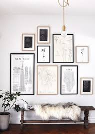 gallery wall tips black white