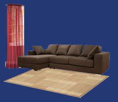 dark brown furniture red curtain combo01 blue walls brown furniture