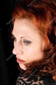 Zrzavé Vlasy žena Portrét Stock Fotografie Citylights 7464930