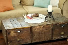 awesome rustic coffee table sets with rustic trunk coffee table with drawers devd rustic vintage