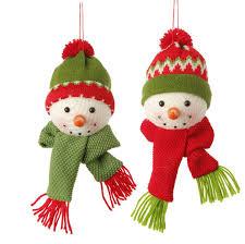 Terrific Snowman Christmas Decorations Shining RAZ Snow Biz 6 5 Inch Head  Ornaments Shelley B