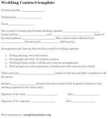 Free Wedding Planner Contract Templates Free Wedding Planner Contract Templates Sanjonmotel