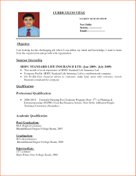 Curriculum Vitae Format Magnificent Sample Of Cv And Resume Pdf Cv Resume Format In Pdf Sample Resume