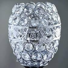 tealight chandelier chandelier candle holders tall crystal beaded candle holder goblet votive tealight wedding chandelier centerpiece