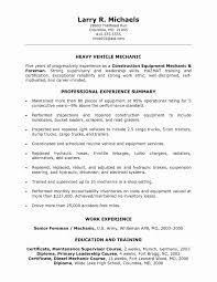 Construction Supervisor Resume Format Elegant Electrical Foreman