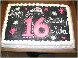 Sweet 16 Sheet Cakes Sixteen Birthday Alexandraames