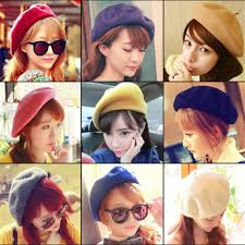 <b>Hot Sale 2018</b> Cheap Fashion New Women Wool <b>Solid</b> Color Beret ...