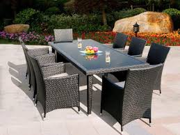 graceful outdoor dining 20 patio set with bench furniture 9 piece round clearance