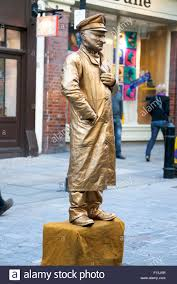 living statue in covent garden london uk stock image