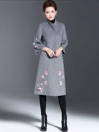 ybqb 16320a pink fl embroidered light grey woolen