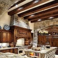 Old World Kitchen Old World Kitchen Room Style With Beam Ceiling And Stone Wall And
