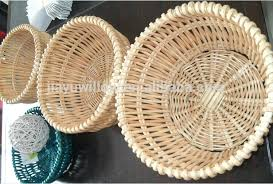 round wicker tray set 3 handmade round wicker food tray bakery tray wicker egg storage tray round wicker tray
