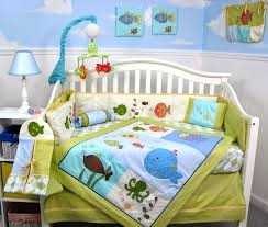 ocean nursery bedding green and blue ocean crib set under the sea baby nursery ocean themed