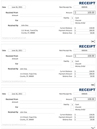 fee receipt format cash receipt free cash receipt template for excel