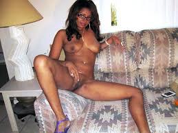 Homeade amateur black woman