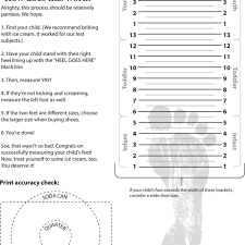 Printable Foot Width Chart Printable Shoe Size Chart For Toddlers Baby Shoe Measurement