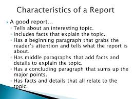 writing a report ppt video online  2 characteristics