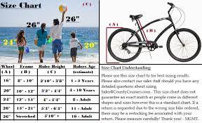 Cruiser Bike Size Chart Beach Cruiser Bike Frame Size Chart Lajulak Org