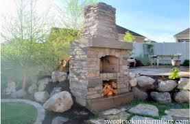 large backyard fireplace