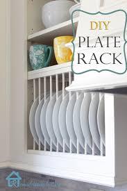 Dish Rack For Kitchen Cabinet Remodelando La Casa Diy Inside Cabinet Plate Rack
