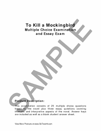 to kill a mockingbird multiple choice and essay examination  preview