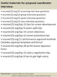 ... 15. Useful materials for proposal coordinator ...