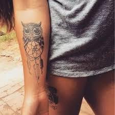 Cute Dream Catcher Tattoos 100 trend Women Tattoo Cute Owl with Dream Catcher Tattoo 36
