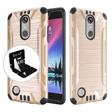 LG K20 Plus/ V Case, Slim Armor Brushed Metal Design Hybrid Hard Accessories |