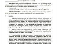 music management contract sample advertising contract template templatezet