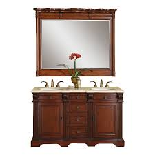 silkroad exclusive olivia brazilian rosewood double sink vanity with cream marfil natural marble top common