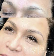 before and after microblading 3dbrows 6dbrows a semipermanent makeup here at mv vital permanent makeup we can help you archive the eyebrows you desire