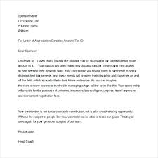 Fundraising Thank You Letter Templates Charity Sponsorship Letter Template