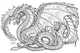 Hard Dragon Coloring Pages For Adults Raovat24hinfo