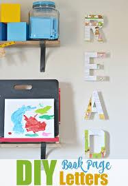 diy letter wall decor