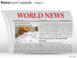 Powerpoint Newspaper Clipping Template Headlines Powerpoint Templates Slides And Graphics