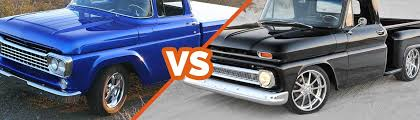 Chevy C10 vs Ford F-100 Comparison | CJ Pony Parts