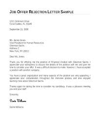 Job Offer Rejection Letter Sample Free Job Offer Letter Template Uk Csponline Co