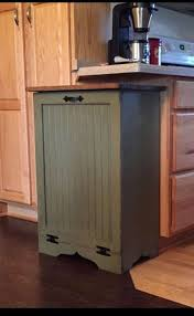 Handmade And Hand Painted By Us These Solid Wood Trash Bins Cans Kitchen  Trash Cans