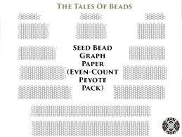 Seed Bead Graph Paper For Even Count Peyote Bracelets Numbered Etsy