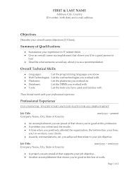 Resume Templates Objectives On Example Of Amazing Good A For