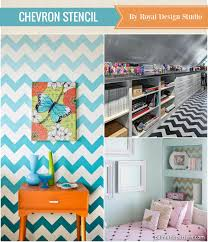 paint chevron stripes on your walls with royal design studio stencils article best stencils