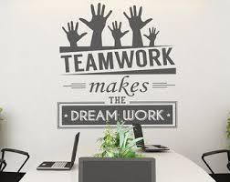 office wall decoration ideas. Decorating Walls Inspiring Fine About Wall Decor For Office 5 Teamwork Makes The Dream Work Art Corporate Supplies Sticker SKU TWRK Decoration Ideas