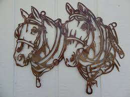 amazon say it all on the wall draft horse head metal wall art country rustic home decor home kitchen on metal horses wall art with amazon say it all on the wall draft horse head metal wall art